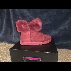 Shoes - Ankle fur boots